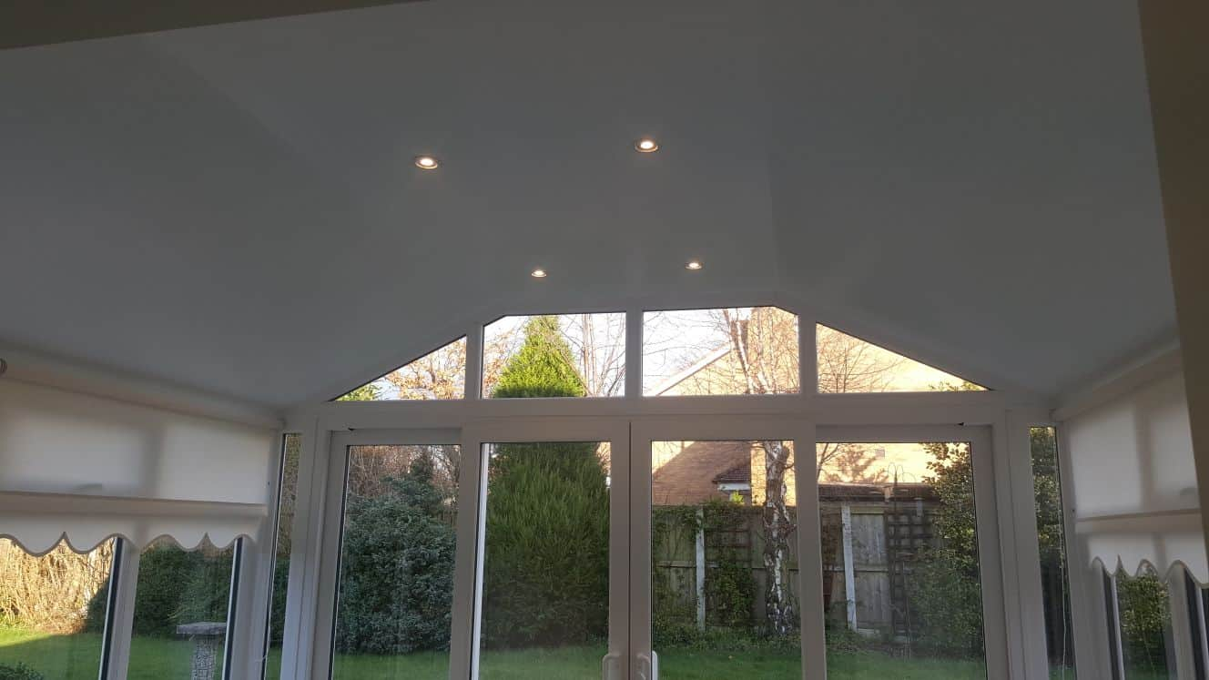 interior of gable ended conservatory